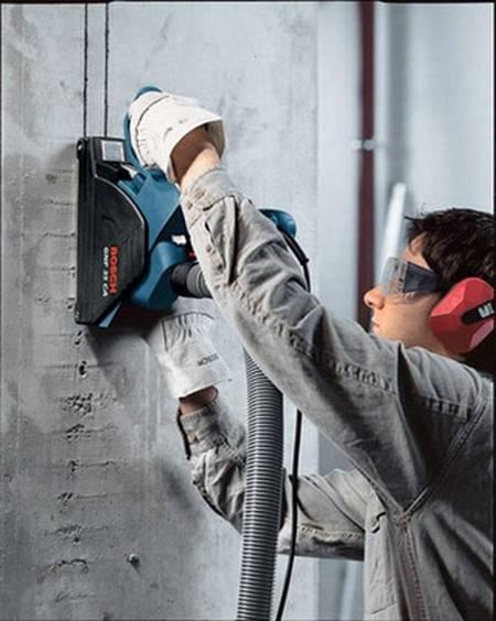 штробление стены бетон